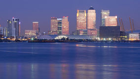 Dawn over canary wharf Royalty Free Stock Photo