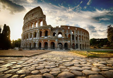 Dawn over Colosseum royalty-vrije stock foto