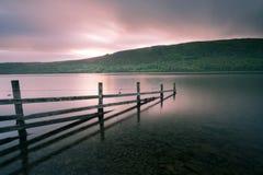 Dawn over Coniston-Water Royalty-vrije Stock Fotografie