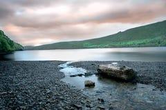 Dawn over Coniston-Water Royalty-vrije Stock Afbeeldingen