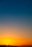 Dawn over de berg Stock Afbeelding