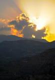 Dawn over de heuvels Stock Fotografie