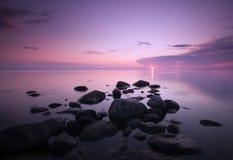 Dawn over de oceaan. Royalty-vrije Stock Afbeelding