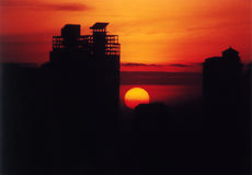 Dawn over Djakarta Royalty-vrije Stock Afbeelding