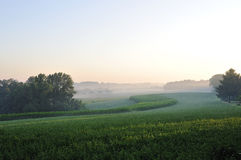 Dawn over farming land Royalty Free Stock Photography