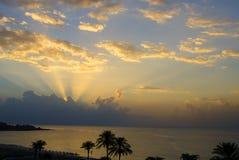 Dawn over het overzees Royalty-vrije Stock Afbeelding