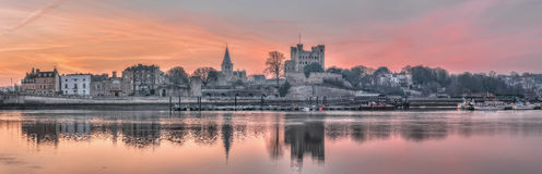 Dawn over historisch Rochester Stock Foto's