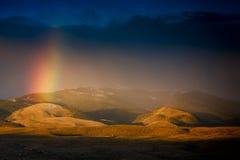 Dawn Over la prairie du Wyoming photographie stock libre de droits