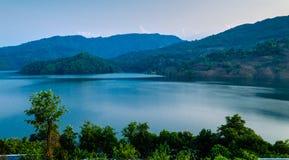 Dawn over Lake Begnas Royalty Free Stock Image