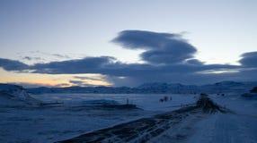 Dawn over Lake Myvatn Stock Photos