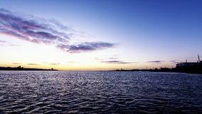 Sunrise over Liverpool River Mersey Royalty Free Stock Photo