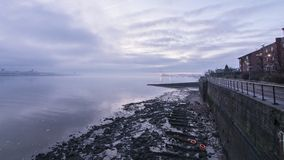 Sunrise over Liverpool River Mersey Royalty Free Stock Photography