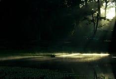 Dawn over Meer Angkor Royalty-vrije Stock Afbeelding
