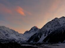 Dawn over Mount Cook. Royalty Free Stock Images