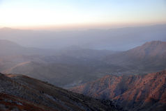 Dawn over the mountains of Uzbekistan. Uzbekistan Royalty Free Stock Photo