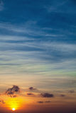 Dawn over the ocean - the background. Dawn over the tropical ocean - the vertical background Royalty Free Stock Photo