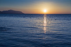 Dawn over the Red Sea Royalty Free Stock Photos