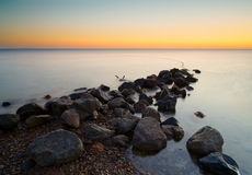 Dawn over the Red Sea horizontal background Stock Photo