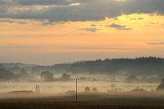 Dawn over rural countryside Royalty Free Stock Images