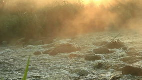 Dawn over Rushing river  stock video footage