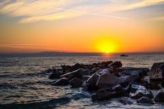 Dawn over the sea. stock photos