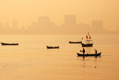 Dawn over South Mumbai (India) and Arabian Sea. Stock Images