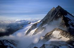 Dawn over the Swiss Alps Stock Photo