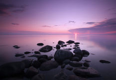 Dawn Over The Ocean. Royalty Free Stock Image