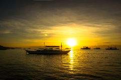 Dawn on Panglao island Stock Image