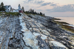 Dawn at Pemaquid Point Stock Photography