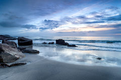 Dawn at Pentewan Sands Royalty Free Stock Image