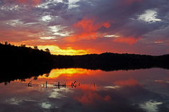 Dawn Pete's Lake Stock Image