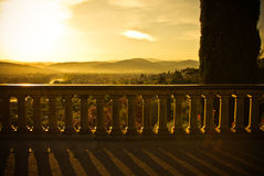 Dawn at Piazzale Michelangelo in Florence, Italy royalty free stock photography