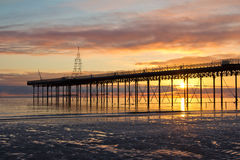 Dawn at the Pier Stock Image