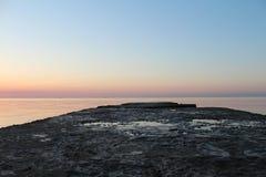 dawn pier Стоковое Изображение