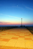 Dawn Pier England. A Pier at the famous English seaside resort Great Yarmouth taken at dawn Stock Photos