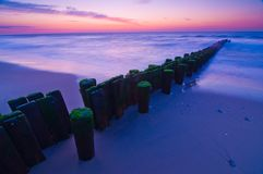 Dawn Pilings Royalty Free Stock Photos