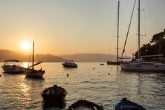 Dawn in Portofino Royalty Free Stock Images