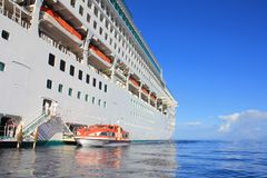 Dawn Princess Cruise Ship. LAHAINA, MAUI, HAWAII - SEPTEMBER 18 : Dawn Princess, ship of Princes Cruises line on September 18, 2012 in Lahaina, Hawaii, USA. Dawn royalty free stock photo