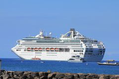 Dawn Princess Cruise Ship. LAHAINA, MAUI, HAWAII - SEPTEMBER 18 : Dawn Princess, ship of Princes Cruises line on September 18, 2012 in Lahaina, Hawaii, USA. Dawn royalty free stock images