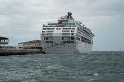 Dawn Princess cruise ship in Port Melbourne Royalty Free Stock Image