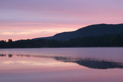 Dawn at Queechy Lake. Early morning scenic of Queechy Lake in New York Royalty Free Stock Photo