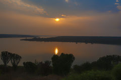 Dawn in Queen Elizabeth Park, Uganda Stock Photos