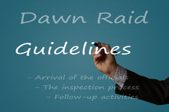 Dawn Raid Guidelines Royalty Free Stock Photo