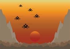 Free Dawn Raid Through Mountainous Valley Royalty Free Stock Images - 13030099
