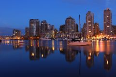 Dawn Reflections, Vancouver Stock Image
