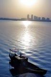 Dawn river Stock Image