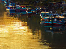 Dawn on the River in Padang Royalty Free Stock Photos