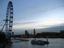 Dawn on river Thames royalty free stock images