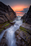 Dawn among the rocks Royalty Free Stock Photography